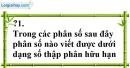 Trả lời câu hỏi Bài 9 trang 33 SGK Toán 7 Tập 1