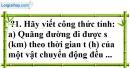 Trả lời câu hỏi 1 Bài 1 trang 51 SGK Toán 7 Tập 1
