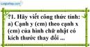 Trả lời câu hỏi 1 Bài 3 trang 56 SGK Toán 7 Tập 1