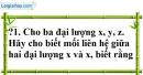 Trả lời câu hỏi Bài 4 trang 60 SGK Toán 7 Tập 1