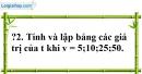 Trả lời câu hỏi 2 Bài 5 trang 63 SGK Toán 7 Tập 1