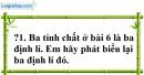 Trả lời câu hỏi 1 Bài 7 trang 99 SGK Toán 7 Tập 1