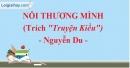 Nỗi thương mình (Truyện Kiều) - Nguyễn Du