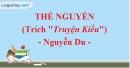 Thề nguyền (Truyện Kiều) - Nguyễn Du