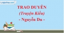 Trao duyên (Truyện Kiều) - Nguyễn Du