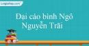 Đại cáo bình Ngô - Nguyễn Trãi