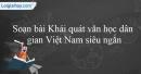 Khái quát văn học dân gian Việt Nam