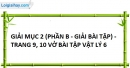 Bài 2a, 2b, 2c phần bài tập tương tự - Trang 9 vở bài tập vật lí 6