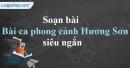 Soạn Bài ca phong cảnh Hương Sơn - Chu Mạnh Trinh siêu ngắn