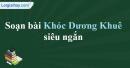 Soạn Khóc Dương Khuê - Nguyễn Khuyến siêu ngắn