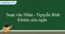 Soạn Nhàn - Nguyễn Bỉnh Khiêm siêu ngắn