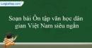 Soạn Ôn tập văn học dân gian Việt Nam siêu ngắn
