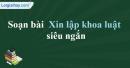 Soạn Xin lập khoa luật - Nguyễn Trường Tộ siêu ngắn