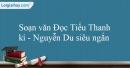 Soạn Đọc Tiểu Thanh kí - Nguyễn Du siêu ngắn