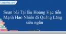 Soạn Tại lầu Hoàng Hạc tiễn Mạnh Hạo Nhiên đi Quảng Lăng - Lý Bạch siêu ngắn