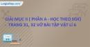 Mục II - Phần A - Trang 31, 32 Vở bài tập Vật lí 6