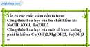 Câu 1 phần bài tập học theo SGK – Trang 23 Vở bài tập hoá 9