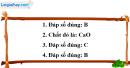 Câu 1, 2, 3, 4 phần bài tập bổ sung – Trang 24 Vở bài tập hoá 9