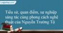 Tác giả Nguyễn Trường Tộ