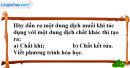 Câu 1 phần bài tập học theo SGK – Trang 30 Vở bài tập hoá 9