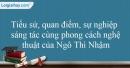 Tác giả Ngô Thì Nhậm