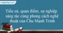 Tác giả Chu Mạnh Trinh