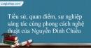 Tác giả Nguyễn Đình Chiểu.