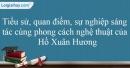 Tác giả Hồ Xuân Hương