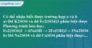 Câu 4 phần bài tập học theo SGK – Trang 33 Vở bài tập hoá 9