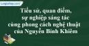 Tác giả Nguyễn Bỉnh Khiêm