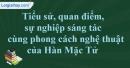 Tác giả Hàn Mặc Tử