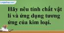Câu 1 phần bài tập học theo SGK – Trang 43 Vở bài tập hoá 9