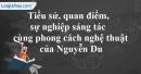 Vài nét về Đại thi hào Nguyễn Du
