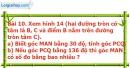 Bài 10 trang 94 Vở bài tập toán 9 tập 2