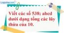 Trả lời câu hỏi 3 Bài 8 trang 30 SGK Toán 6 Tập 1