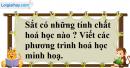 Câu 1 phần bài tập học theo SGK – Trang 55 Vở bài tập hoá 9