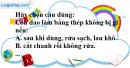 Câu 5 phần bài tập học theo SGK – Trang 63 Vở bài tập hoá 9