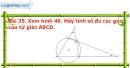 Bài 35 trang 111 Vở bài tập toán 9 tập 2