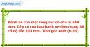 Bài 45 trang 118 Vở bài tập toán 9 tập 2