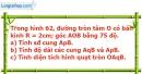 Bài 55 trang 124 Vở bài tập toán 9 tập 2