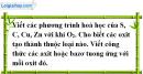 Câu 2 phần bài tập học theo SGK – Trang 73 Vở bài tập hoá 9