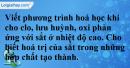 Câu 3 phần bài tập học theo SGK – Trang 76 Vở bài tập Hoá 9.
