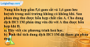 Câu 6* phần bài tập học theo SGK – Trang 73 Vở bài tập hoá 9
