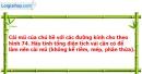 Bài 11 trang 138 Vở bài tập toán 9 tập 2