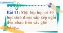 Bài 11 trang 155 Vở bài tập toán 9 tập 2