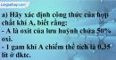 Câu 7* phần bài tập học theo SGK – Trang 94 Vở bài tập hoá 9