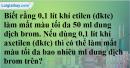 Câu 3 phần bài tập học theo SGK – Trang 108 Vở bài tập hoá 9