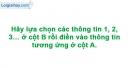 Bài 5 mục III trang 54 Vở bài tập Sinh học 8
