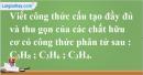 Câu 1 phần bài tập học theo SGK – Trang 116 Vở bài tập hoá 9