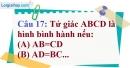 Phần câu hỏi bài 7 trang 113, 114 Vở bài tập toán 8 tập 1